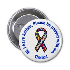 Autism Awareness Pin / Button Badge 25mm, 38mm, 45mm, 58mm, 77mm