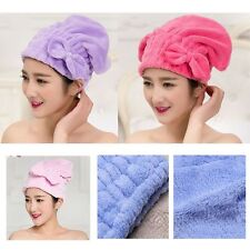 Coral  Velvet Multi-color Bow Drying Wrap Hair Towels Quick Dry Cap