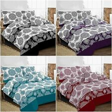 New Floral Leaf Megan Duvet Cover Set Bed in a Bag Single Double King Superking