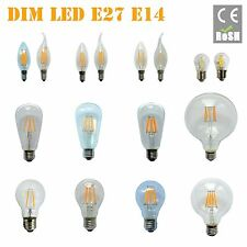 E14 E27 B22 12W DIMMABLE EDISON Retro Filament LED Bulb Candle Light Spot Lamp