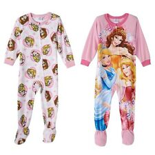 NWT-DISNEY PRINCESS GIRLS BLANKET SLEEPERS PJ'S SLEEPWEAR (4T) 2 PJS