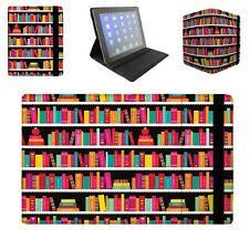 Library Book Case Flip Folio Case - fits iPad Air Mini Samsung Galaxy