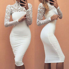 Very Sexy Lace Dress, Women, Lady Elegant Party, Club Dresses, Long Sleeve