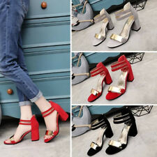 Fashion Office OL Stilettos Ankle Strap Buckle Womens High Heels Shoes Sandals