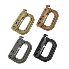 5PCS Multi Tactical Molle Webbing Buckle Locking D-Ring Carabiner Backpack Hook
