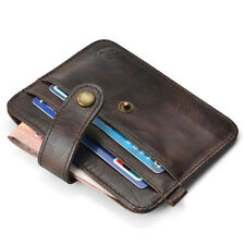 Men's Genuine Leather Money Clip Slim Wallet ID Credit Card Holder Case Purse