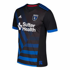 adidas San Jose Earthquakes MLS 2017 Soccer Home Jersey New Black  Kids - Youth