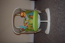 Fisher-Price Rainforest Swing & Seat With New Rechargeable Batteries & Charger