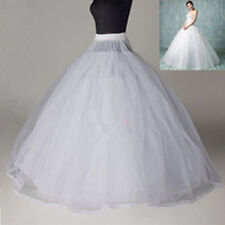 White 3/8 Layers Tulle Hoopless Wedding Dress Underskirt/Underdress Petticoat