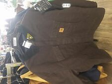 Carhartt C26 Dark Brown Mens Jacket Artic Quilt Lined Sandstone Traditional