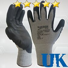10 Pairs Anti Cut Resistant Level 5 PU Nylon Fiber Work Gloves Safety Protection