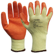 24 Pairs Latex Coated Safety Work Garden Gloves Mens Grip Builders Gardening
