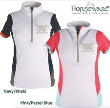 NEW Horseware Emmy Technical Polo Shirt Ladies - Pink X-Small