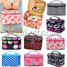 NEW WOMEN COSMETIC BAG MAKE UP CASE TRAVEL TOILETRY WASH ORGANISER ZIPPER POUCH