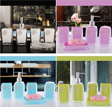 5PC/Set Acrylic Bathroom Accessories Bath Cup FashionToothbrush Holder Soap Dish