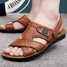Men Faux leather Summer Flat Open-toed Casual Sand Beach Sports Slipper Sandals