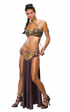 Princess Leia Star Wars Sexy Slave Costume Halloween Womens Fancy Dress Outfit