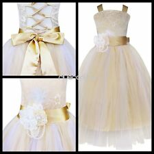 Flower Girl Kid Princess Pageant Wedding Bridesmaid Formal Dress Party Ball Gown