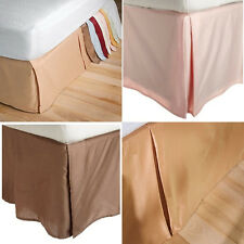 15-Inch Drop BedSkirts 300 TC Cotton Sateen Twin Queen King Size Bed Dust Ruffle