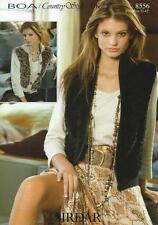 SI8556 LADIES DK & BOA FURRY GILET WITH ZIPPER OR BUTTONS KNITTING PATTERN