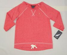 Nautica Little Girls' Raglan Sleeve Top with Rope Bow sizes 5,6