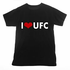 UFC t shirt I love Clothing Tee T-shirt Heart MMA Ultimate Fighting martial art