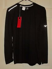 NWT MIZUNO Long Sleeve Running-Jogging Shirt Body Warming Reflective Mens Black