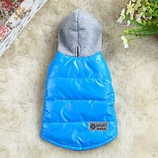 Waterproof Dog Puppy Hoodie Coat Jacket Apparel Warm Winter Costume Clothes S-XL