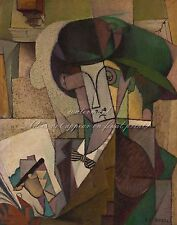 """DIEGO RIVERA Painting Poster or Canvas Print """"Young Man with a Fountain Pen"""""""