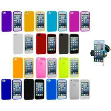 Color Silicone Gel Rubber Soft Skin Case Cover+Windshield Mount for iPhone 5 5S