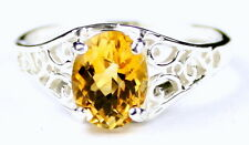 Citrine, Solid 925 Sterling Silver Ladies Ring, SR305-Handmade