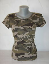 T-Shirt ARMY MILITARY Top CAMOUFLAGE Shirt Cotton Spandex S M L XL NEW