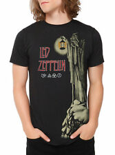 Led Zeppelin The Hermit Black T-Shirt Rock Band Music Tee Licensed S-2XL