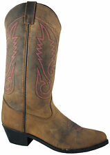 Smoky Mountain Boots Womens Dark Crazy Horse Leather 12in Western Cowboy