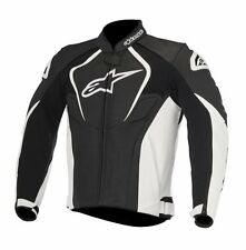 New Alpinestars Jaws White/Black Leather Motorcycle Jacket (Thermal Liner)