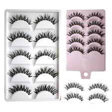 Quality 5/10 Pairs Makeup Handmade Cross Fashion Long False Eyelashes Eye Lashes