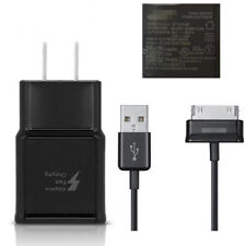 Original US Black Fast Wall Charger+1M 30Pin Cable For Samsung Galaxy Tab