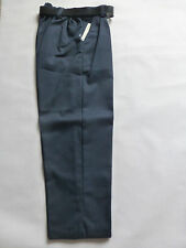SCHOOL BOYS STURDY/WIDER FIT SMART TROUSERS WITH BELT Navy Waist 36 Was £10.99