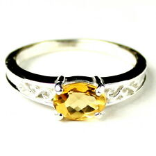 Citrine, 925 Sterling Silver Ring, SR362-Handmade
