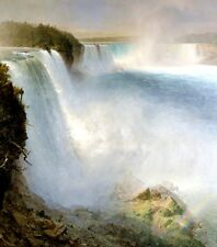 Niagara Falls from the American Side Painting Frederic Church Art Reproduction