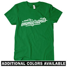 Made By Immigrants Script Women's T-shirt S-2X - Gift Immigration Political USA