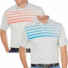 Callaway Mens Golf Performance OPTI-Soft Ombre Chest Stripe Heather Polo Shirt