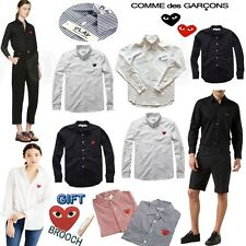 Striped %Genuine CDG Comme des Garcons PLAY Long Sleeve Shirts for Women Men top