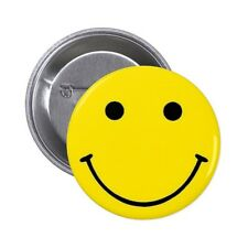 Cooler Smiley Button Badge Emoticon Fun Emo Punk 25mm, 38mm, 45mm, 58mm or 77mm