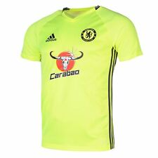 Adidas Chelsea FC Training Jersey Mens Yellow/Black Football Soccer Top Shirt