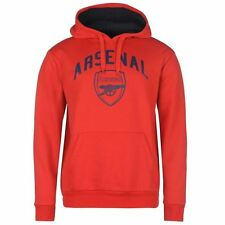 Arsenal FC Source Lab Crest Pullvoer Hoody Mens Red Football Soccer Hoodie