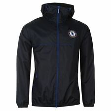 Chelsea FC Shower Jacket Mens Navy Football Soccer Jackets Coats Outerwear