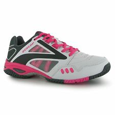 Dunlop Flash Team II Tennis Shoes Womens White/Pink Trainers Sneakers