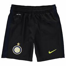 Nike Inter Milan Home Shorts 2016 2017 Juniors Black/Yellow Football Soccer