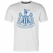 Newcastle United FC Large Crest T-Shirt Infants White/Royal EPL Football Soccer